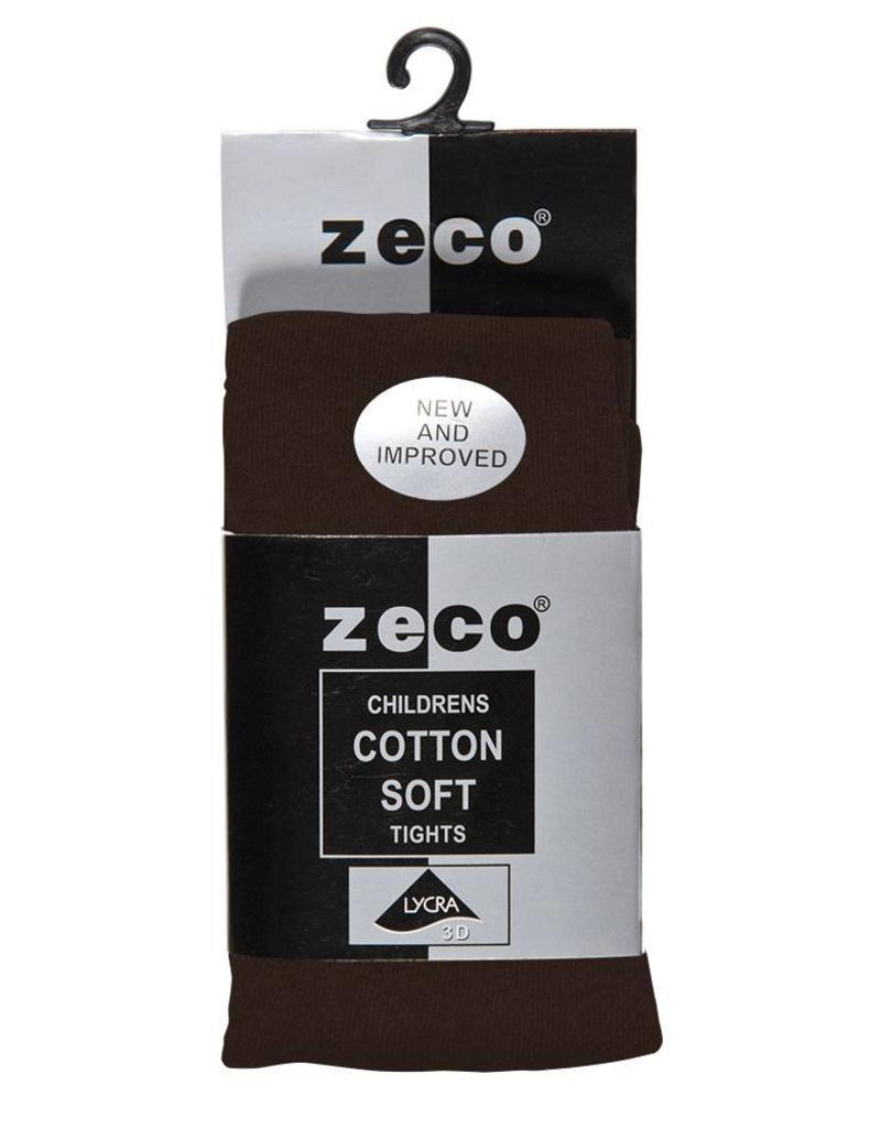 Girls Brown Cotton Soft Tights