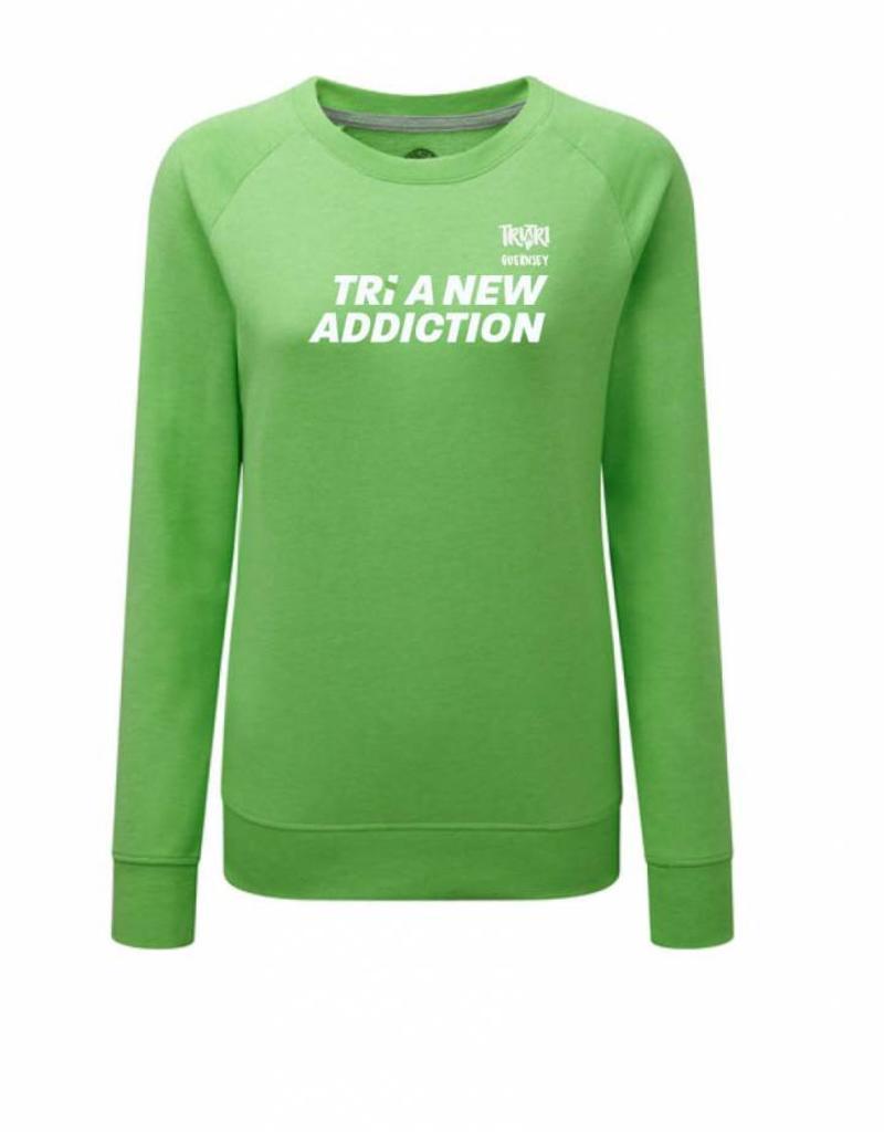 Ladies 'Tri A New Addiction' Raglan Sweatshirt