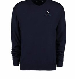 Rovers Merino Fine Wool mix sweater in Navy