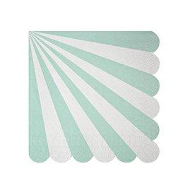 Meri Meri Meri Meri aqua stripe small napkins