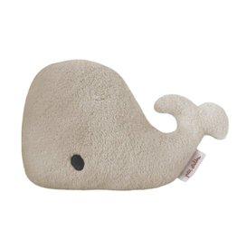 Petit Stellou Petit Stellou knuffel/rammelaar greige whale