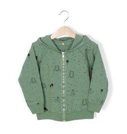 lötiekids lötiekids hooded sweatshirt swings park pine green