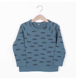 lötiekids lötiekids sweatshirt fishes lake blue