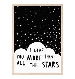 Mini Learners Mini Learners poster A3 I love you more than all the stars