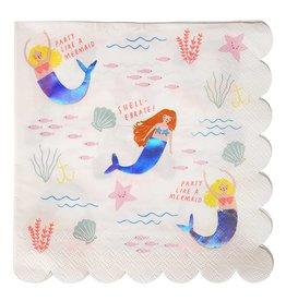 Meri Meri Meri Meri mermaids large napkins