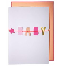 Meri Meri Meri Meri baby girl garland card
