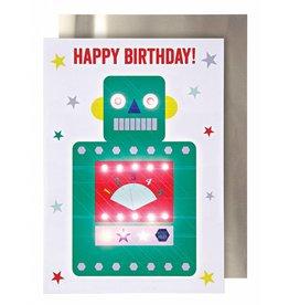 Meri Meri Meri Meri happy birthday robot card