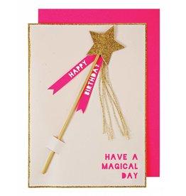 Meri Meri Meri Meri magic wand birthday card