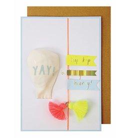 Meri Meri Meri Meri yay balloon baby card