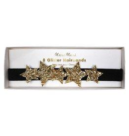 Meri Meri Meri Meri star glitter haarbandjes 8 st