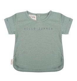 Little Indians Little Indians T-shirt hello summer soft green