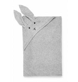 Liewood Liewood Willie gebreid deken 80x80 rabbit dumbo grey