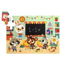 Petit Monkey Petit Monkey puzzel at school 24 stuks 3+