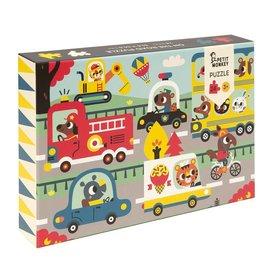 Petit Monkey Petit Monkey puzzel on the road 24 stuks 3+
