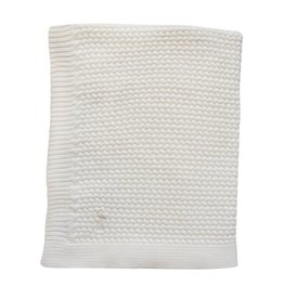 Mies & Co Mies & Co soft knitted deken 80x100 offwhite