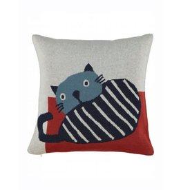 home by door Kidscase home kussen cat dark blue