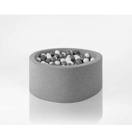 Misioo Misioo ballenbad rond 100x40 lichtgrijs met 400 ballen (wit, grijs)