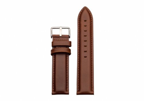 Morris Ivy Brown leather - silver buckle