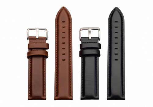 Morris Ivy Brown & Black leather strap duo package
