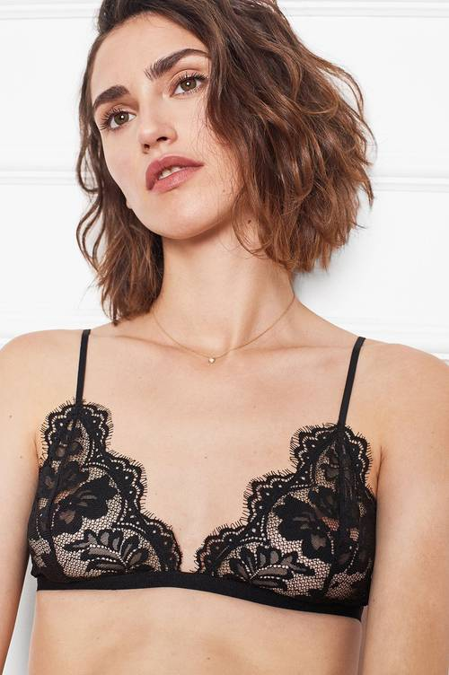 Anine Bing Floral Lace Bra