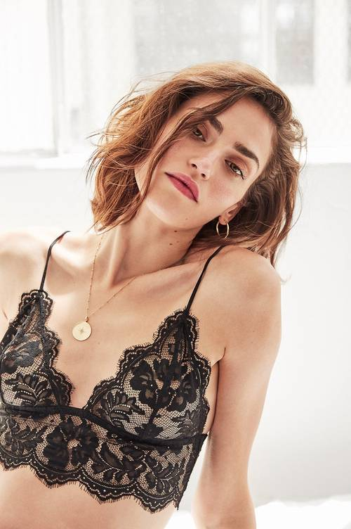 Anine Bing Floral Lace Bralette