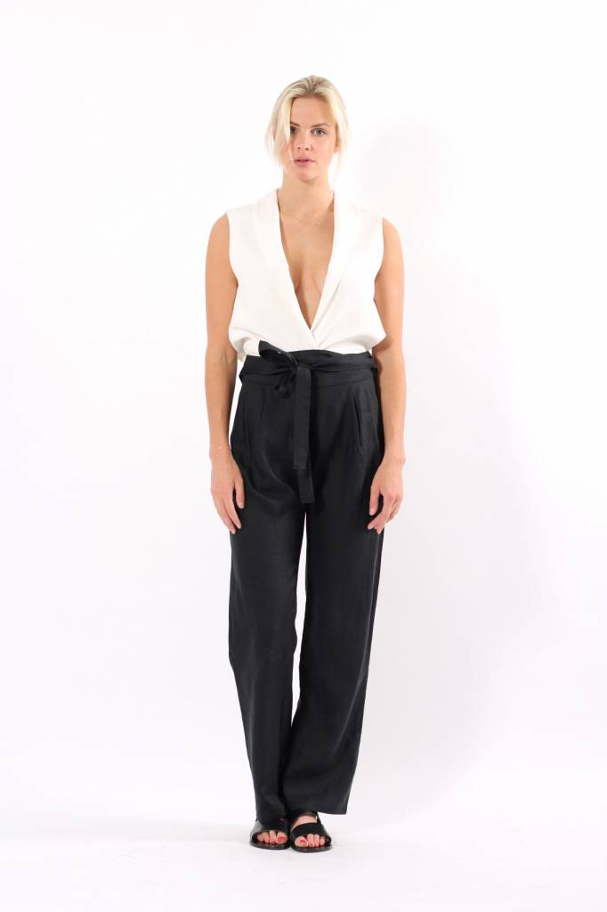 Matin Pleat Front Pants with Tie