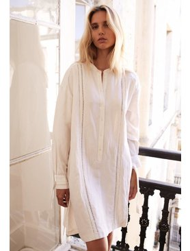 La  Collection Julietta Linen Silk Dress