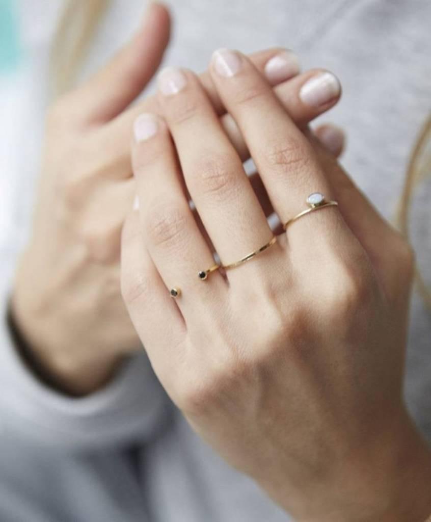 Mimi Et Toi Double Black Black Diamond Ring