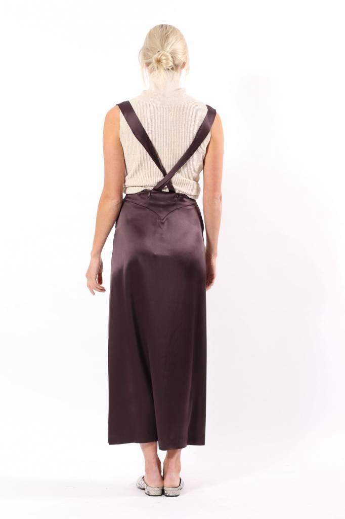 Nanushka Peru Satin Skirt with Detachable Straps