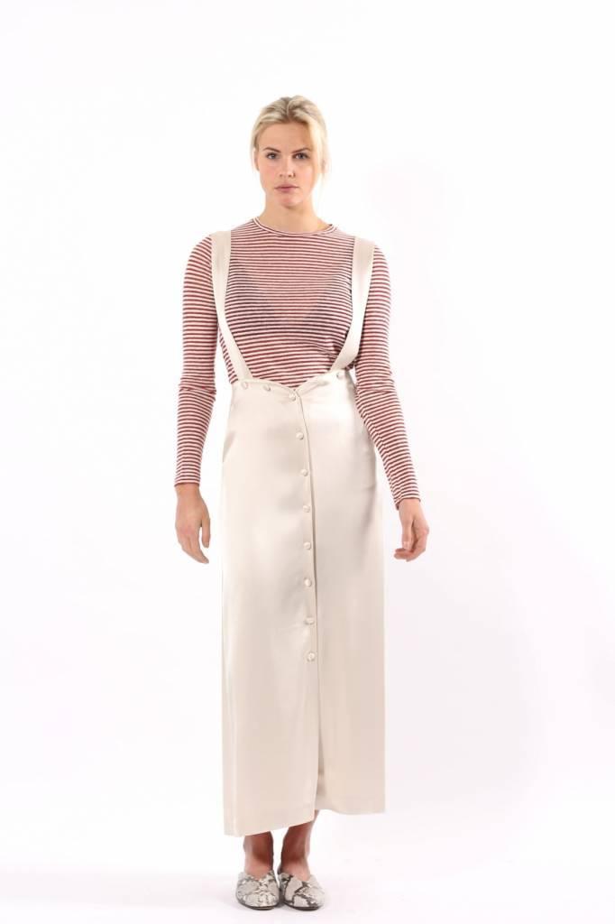Nanushka Peru Satin Skirt With Straps