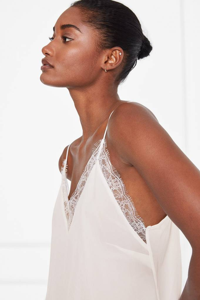 Anine Bing Deep V Lace Camisole