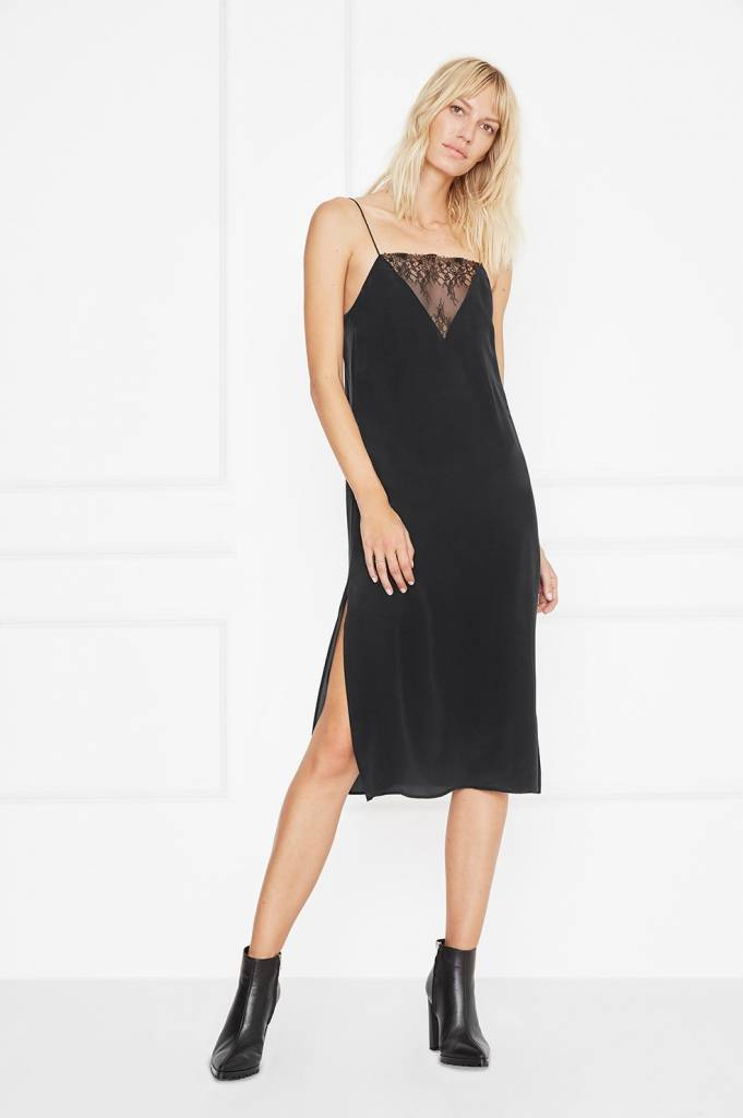 Anine Bing Deep V Lace Slipdress