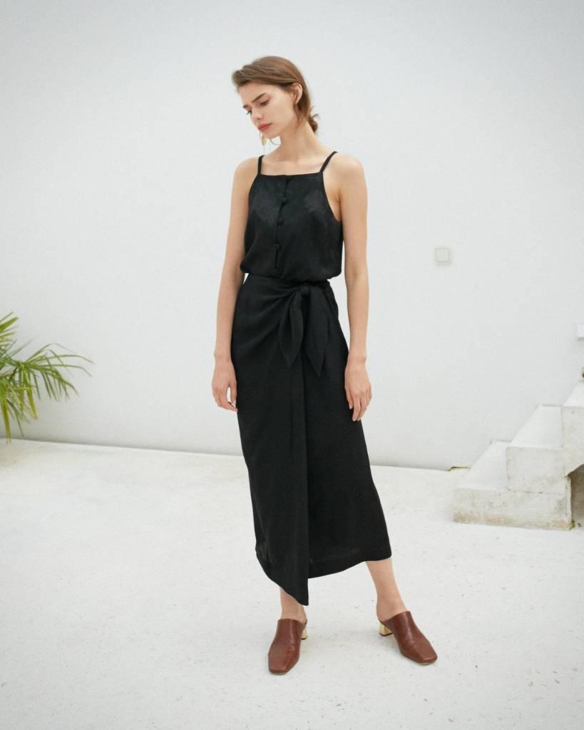 Nanushka Salem Sarong Strap Dress