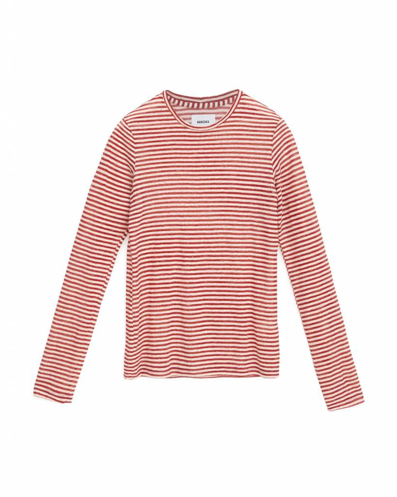 Nanushka Elsa Long Sleeve Crew Neck Top