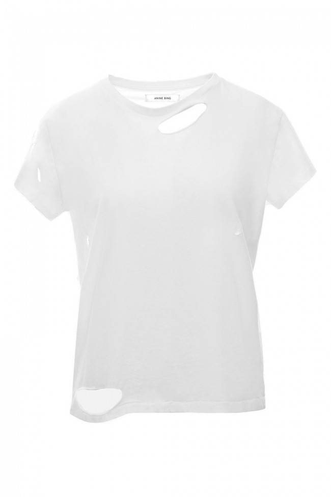 Anine Bing Distressed T-shirt