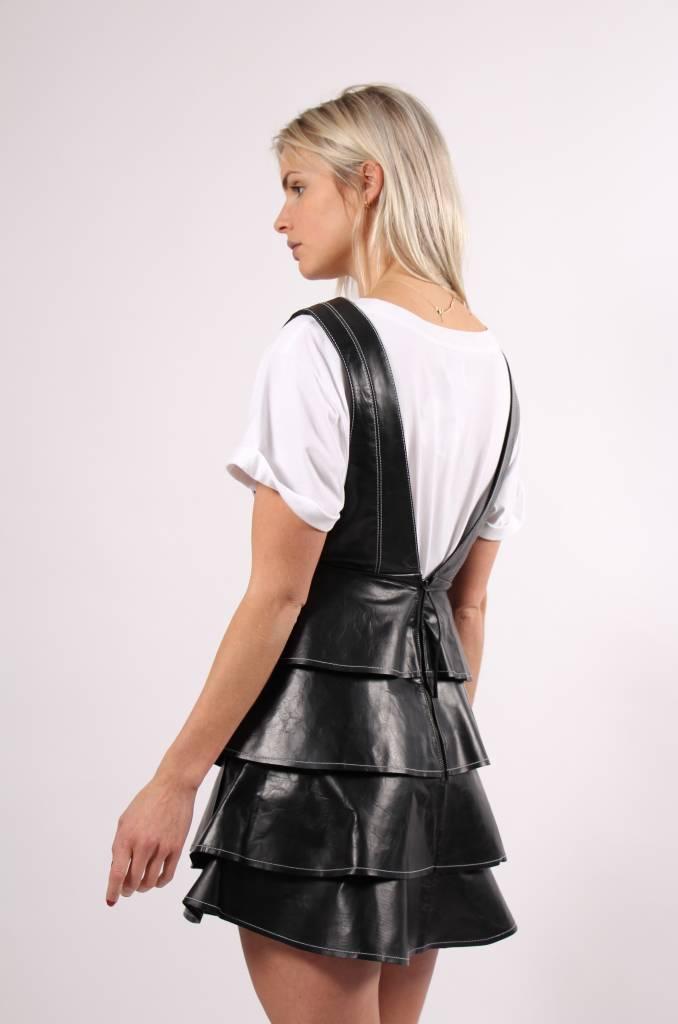 Aje Banksia Leather Dress