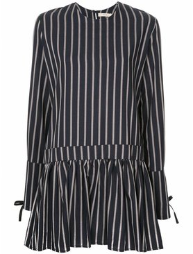 Matin Striped Dress With Wide Cuff