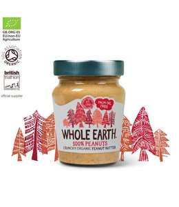 Whole Earth 100% Peanuts Crunchy Organic Peanut Butter 227g
