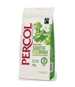 Percol Percol SMOOTH Colombia GROUND Coffee FT 200g