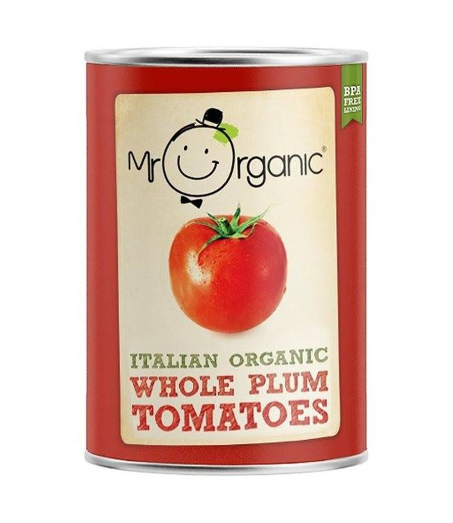 Mr Organic Mr Organic Whole Plum Tomatoes BPA Free 400g