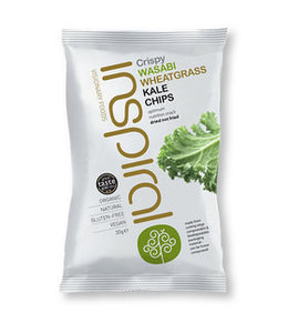 Inspiral Visionary Products Inspiral Wasabi Wheatgrass Kale Chips 30g
