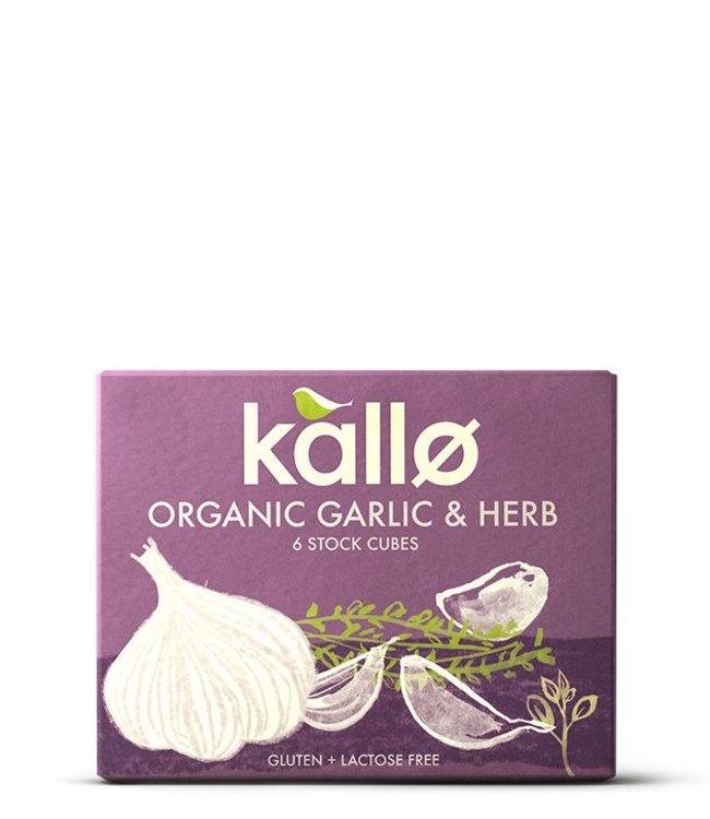 Kallo Organic Garlic & Herb Stock Cubes 66g