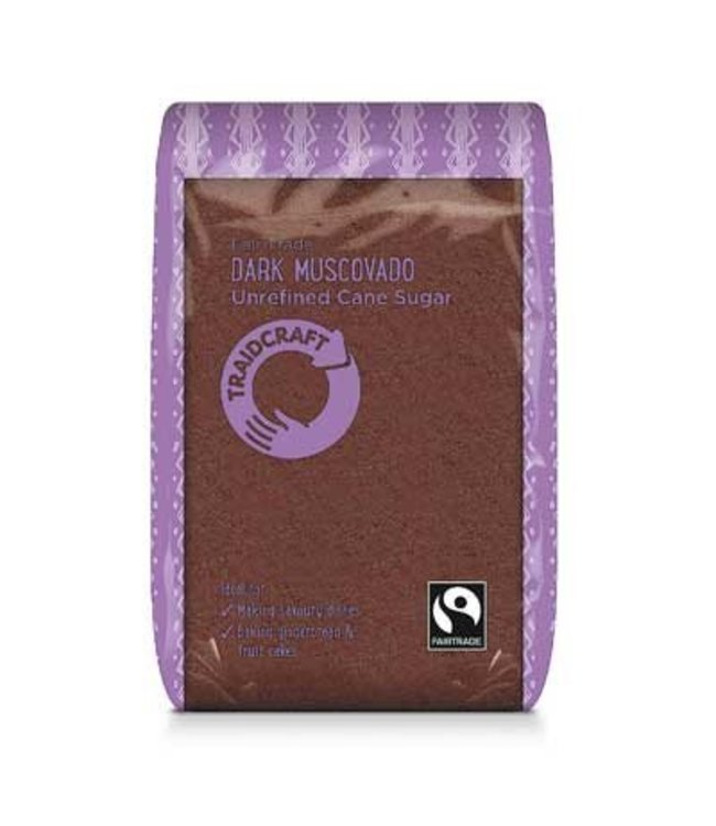 Traidcraft Fairtrade Dark Muscovado Sugar 500g
