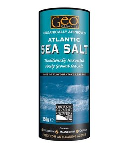 Geo Organics Organically Approved Atlantic Sea Salt Shaker 500g