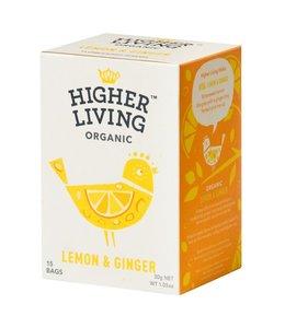 Higher Living Lemon & Ginger Organic 15 Bags