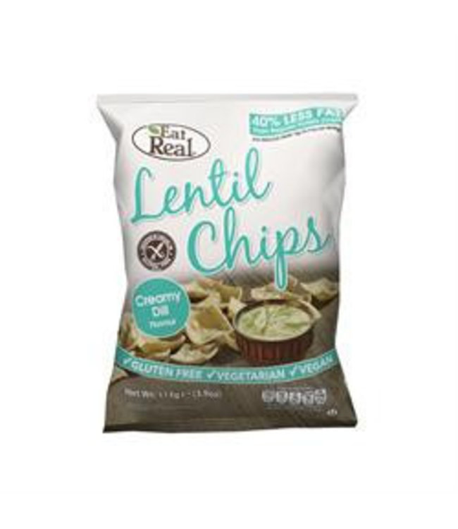 Eat Real Lentil Chips Creamy Dill 40g