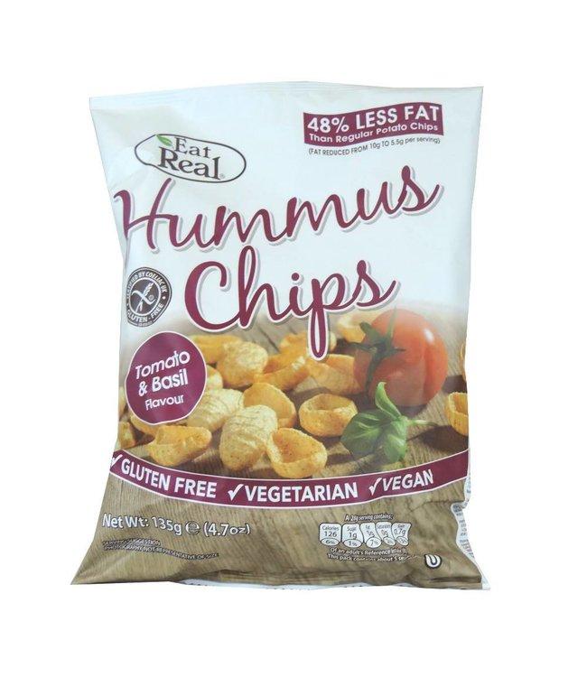 Eat Real Eat Real Hummus Chips Tomato Basil 135g