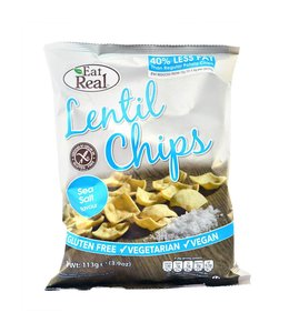 Eat Real Eat Real Lentil Chips Sea Salt LGE 113g