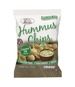 Eat Real Hummus Chips Creamy Dill 45g
