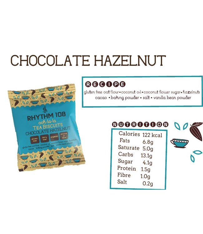 Rhythm Chocolate Hazelnut Biscuit 24g